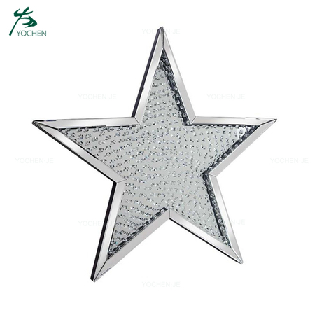 Floating Crystal Decorative Star Shaped Wall Mirror