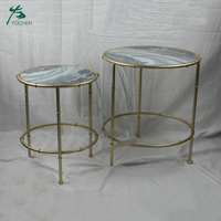 Home furniture round side table modern marble tea table design