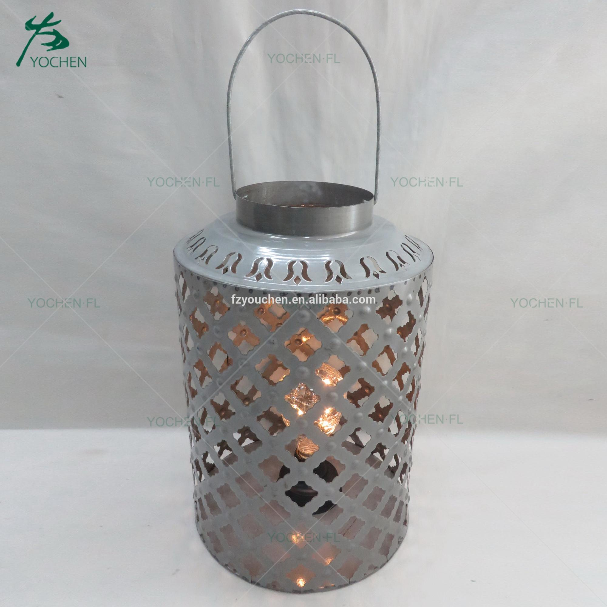decorative home decor vintage metal tall candle holder