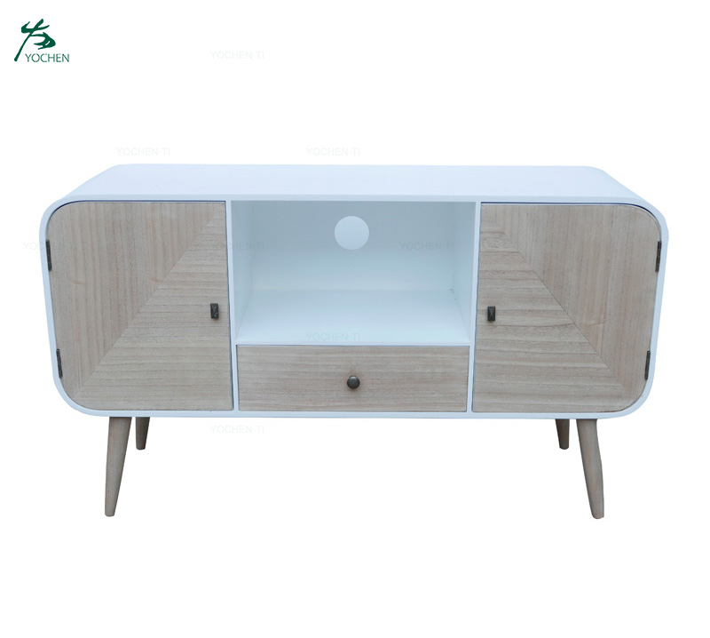 Modern Design Popular Wooden TV Stand Storage Cabinet