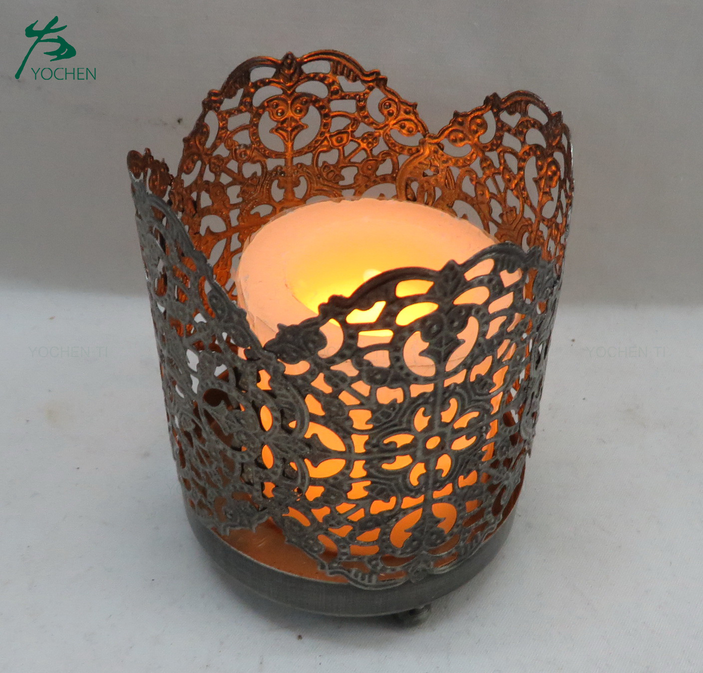 Italian Metal Lantern Votive Candle Holder For Home Decor