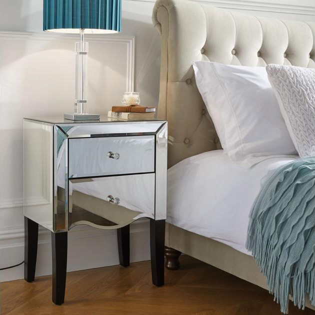 mirrored furniture wholesale 2 drawer nightstand bedroom furniture bedside table