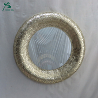 Cheap Price Wall Decor Round Metal Brass Framed Wall Mirrors