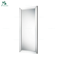 Wooden frame full length floor stand dressing mirror