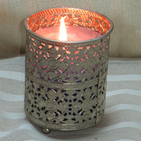 Glass metal votive tealight candle holders wholesale