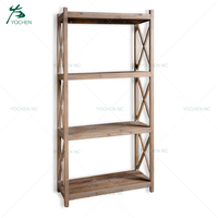 wooden ironing board / ironing cabinet shelves storage unit bookcase