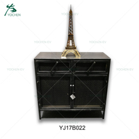 Narrow 2 Doors Industrial Metal Iron Sideboard