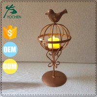 metal tea light candle holder wholesale bird decoration tealight cup candle holder centerpiece