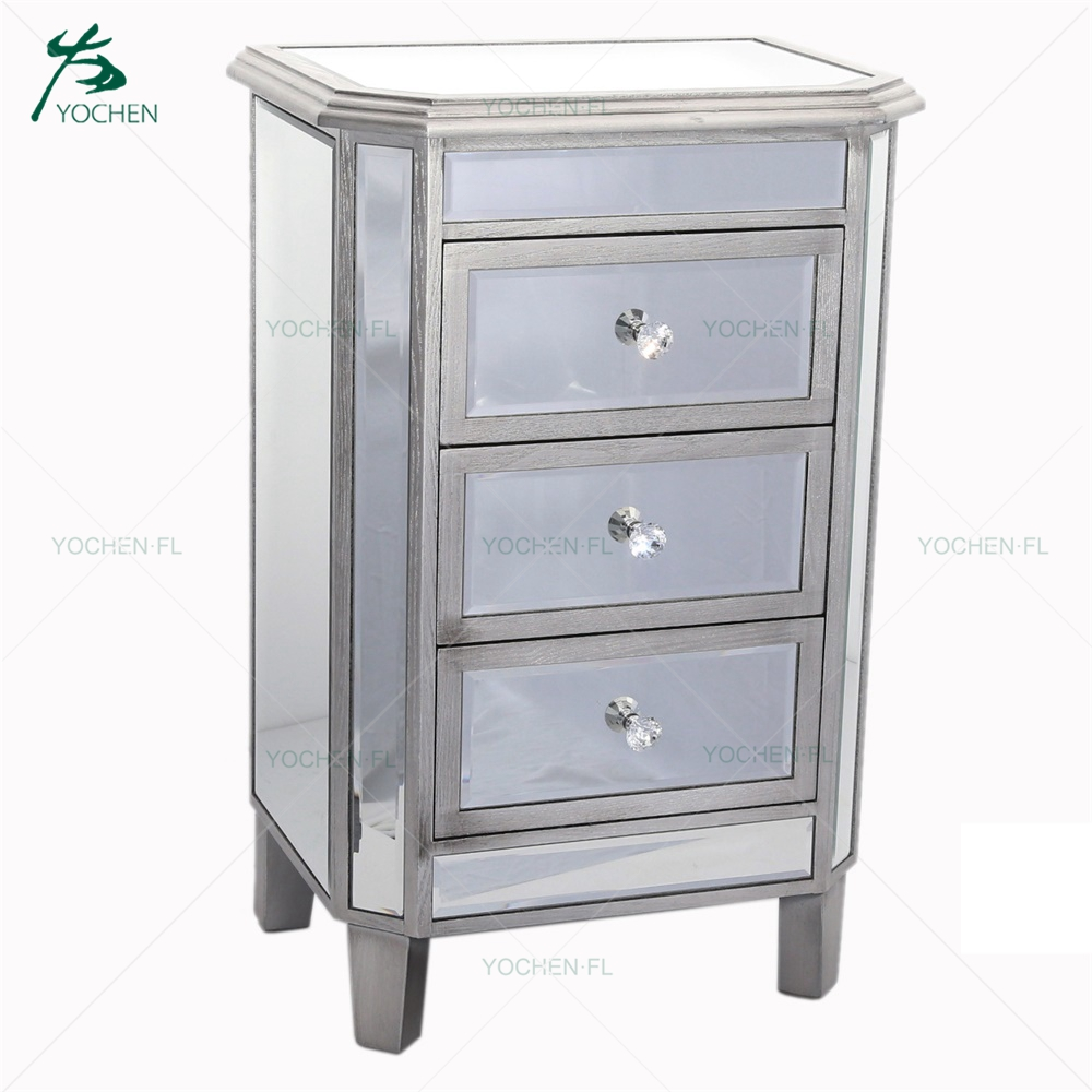 Living room mirror furniture narrow small cabinet with many drawer