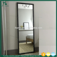 Tall Mirror Vintage Metal Frame Wall Mirror Black