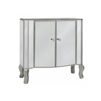 home furniture 2 door mirrored furniture wholesale