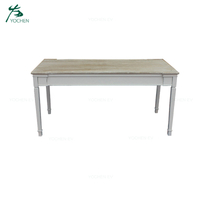 White Wash Rustic MDF Wooden Dining Table