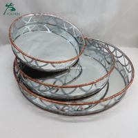 Handmade serving trays modern mirrored tray
