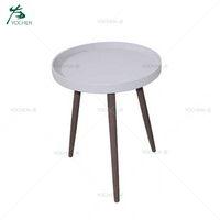 Wood Small Round Center End Coffee Table Tea Table