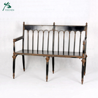 Outdoor Furniture Antique Wrought Iron Garden Bench Seat