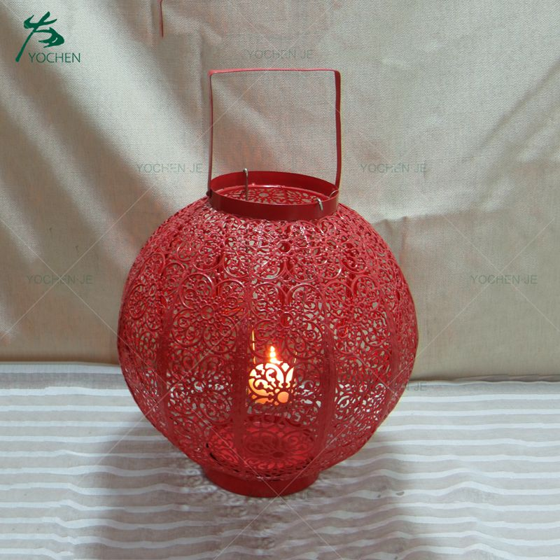Ball Shape Red Wedding Decoration Moroccan Candle Holder