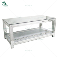 Home furniture modern white mirrored coffee table
