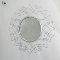 Metal Round Wall Mirror Iron Crystal Wall Decor Mirrors