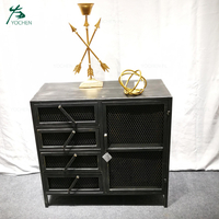 chic home metal furniture black metal cabinet