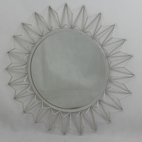 Vintage metal sun flower shape mirror