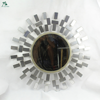 Hand craft custom home sun flower round decorative mirror