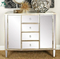 Yochen new arrival modern mirrored chest of drawers mirrored furniture for home furniture