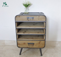 Industrial Furniture Bedside Chest Of Drawers Storage Display Tallboy Unit
