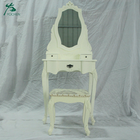 white french dressing table with mirror makeup table