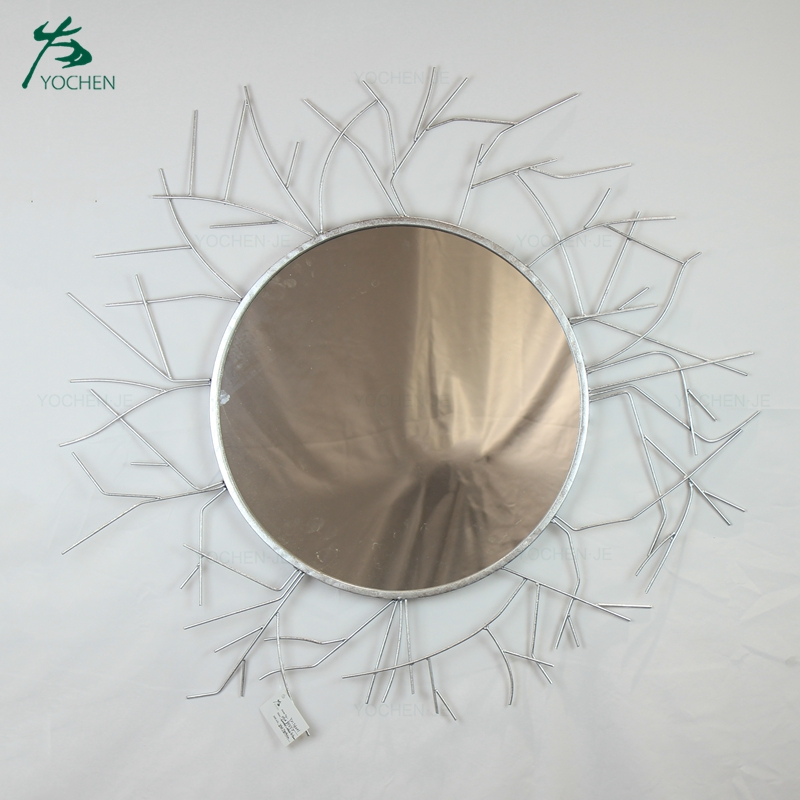 Antique Wall Mirror Glass Star Shaped Design Decorative Wall Mirror