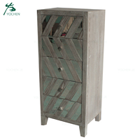 mirrored living room furniture tall chest of drawers