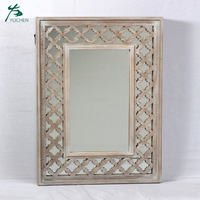 houseware decoration wooden frame wall mirror customise mirror