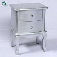 storage living room furniture shining silver coloir wood cabinet with drawer