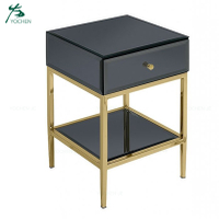 black glass bedside lamp table end table bedroom night stand