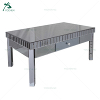 grey mirror furniture glass new model coffee table