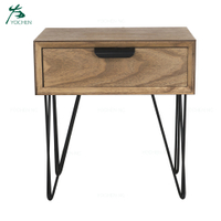 living room modern wooden side table with drawer