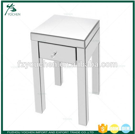 Mirrored 1 Front Drawer Side Table End Table Lamp Table