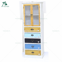 french provincial furniture white shelves storage unit wooden decoration cabinet