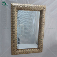 Wall usage rectangle shape wooden big size mirror