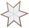 square wall hang wood mirror frame decorative star shaped mirror