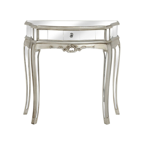 Bedroom furniture silver glass mirrored console table