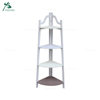 Modern home decorative wood corner wall shelf