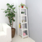 Antique white modern solid wood storage furniture book shelf