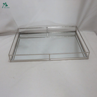 Silver Mirrored Serving Tray Size Large 40*30*H4.5cm
