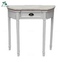 European style half moon fancy console table