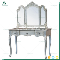 Royal Luxury With Foldable Mirror Aluminum Hotel Dresser
