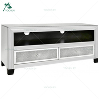 Two Drawers Crushed Glass TV Stand