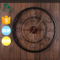 vintage decoration for home clock metal wall clock
