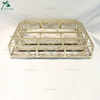 Contrast Faux Marble Effect Metal Frame Serving Trays