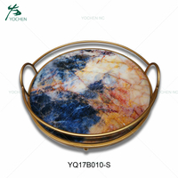 metal globe table decoration marble serving tray