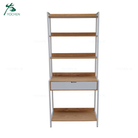 Narrow Wood Storage Shelf Unit Display Storage Rack